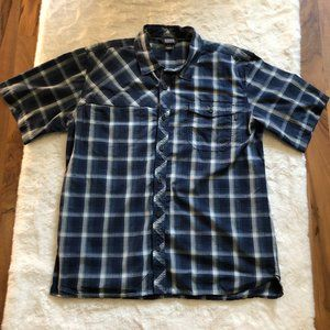 Outdoor research riff plaid shirt short sleeve size large
